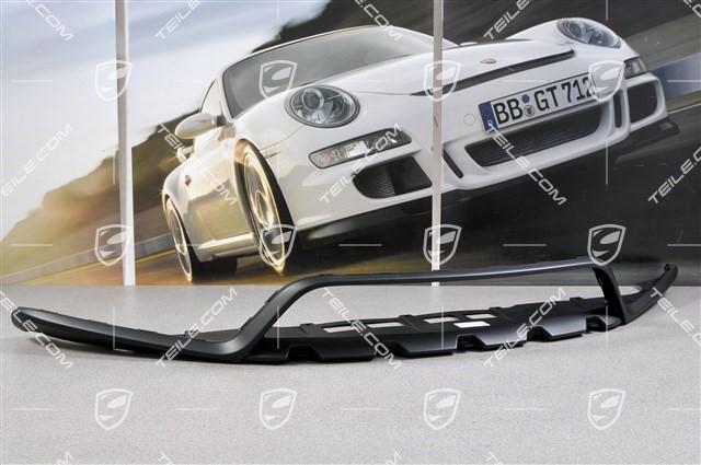 top porsche 981 boxster cayman gts sportdesign paket spoiler vorn schwarz ebay. Black Bedroom Furniture Sets. Home Design Ideas
