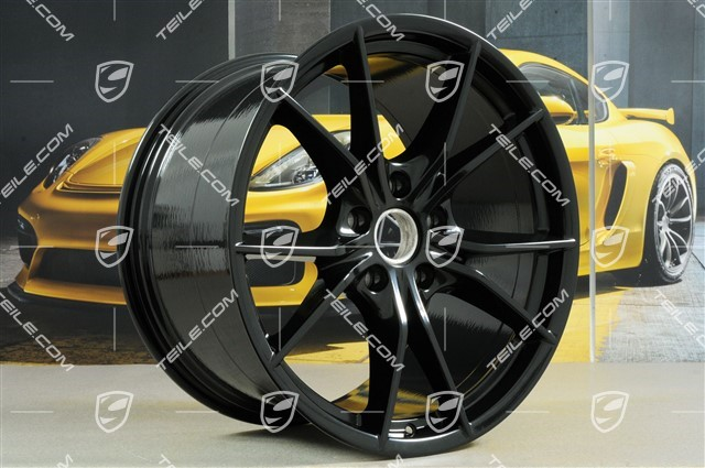 20-inch wheel rim set Carrera S IV, rims 8,5 J x 20 ET49 + 11,5 J x 20 ET56, in black