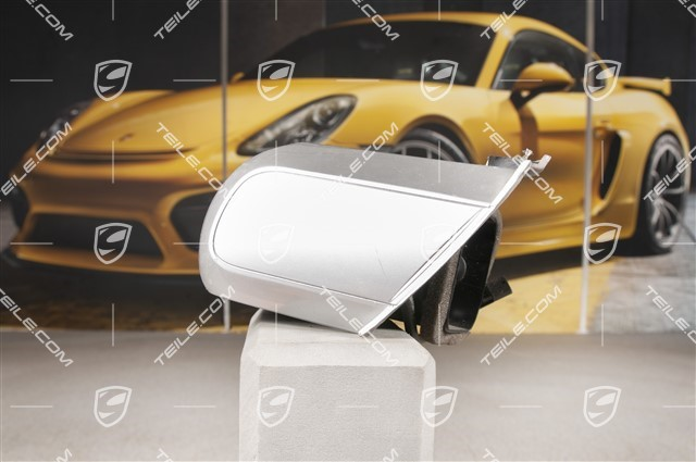 Dashboard side vent / defroster trim / cover, Galvano silver, Carrera S / GTS, L