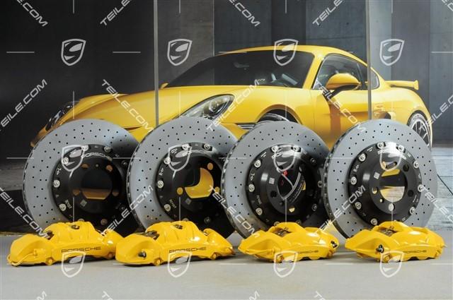 Porsche Cayenne Front /& Rear Disc Brake Rotors Original Performance Brake Kit