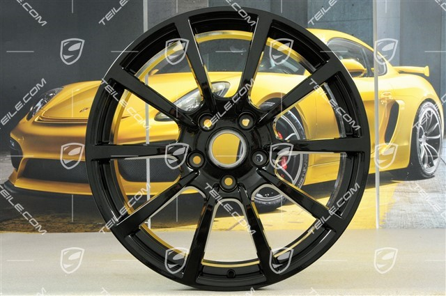 20-inch Carrera Classic (II) wheel rim set, 8,5 J x 20 ET49 + 11,5 J x 20 ET76, in black high gloss