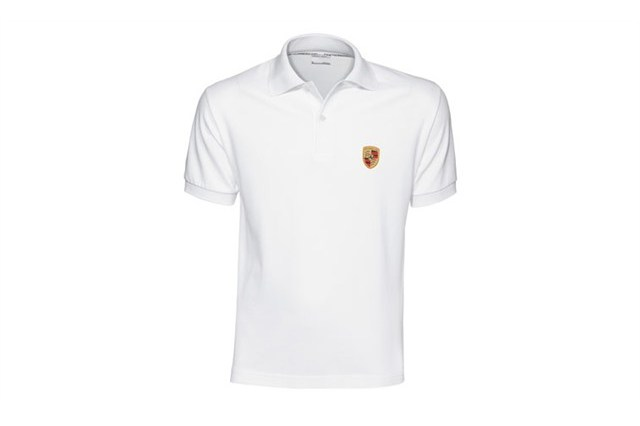 Porsche crest polo shirt, white, 3XL 58