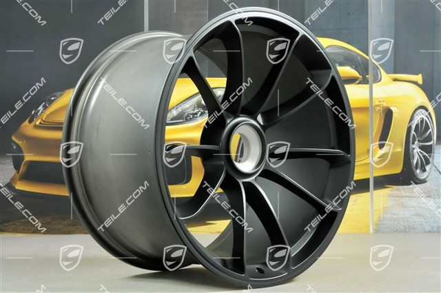 "20+21"" GT3 RS wheel set, rims: front 9,5J x 20 ET50 + rear 12,5J x 21 ET48, black"