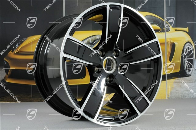 20-inch wheel rim set Carrera Sport, 8,5J x 20 ET49 + 11,5J x 20 ET56, Jet Black Metallic