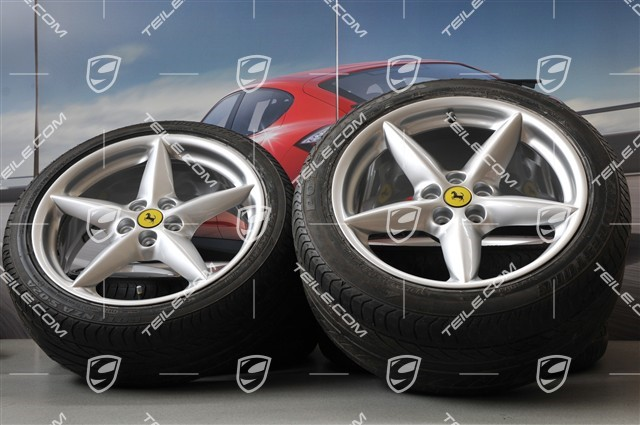 Teile Com 360 Modena Spider Wheels And Tyres Set Used Ferrari 601 01 Summer Wheel Sets Fer360kpl