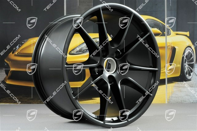 "20"" Carrera S III wheel rim set, 8,5J x 20 ET51 + 11J x 20 ET52, satin black matt"