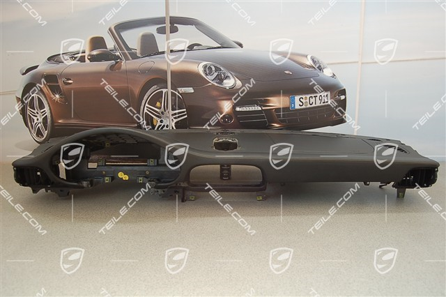 Dashboard, upper part, black leather, Sport Chrono Package