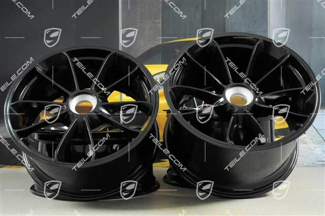 "20"" rims set GT3, 9J x 20 ET55 + 12J x 20 ET47, in black"