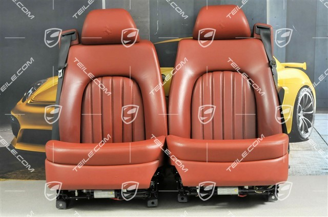 456gt Gta Seats El Adjustable Memory Leather Burgundy Set L R Used Ferrari 817 00 Front Seat 639131kpl Teile Com