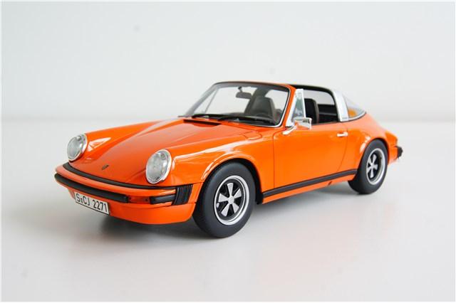 gt spirit porsche 911 2 7 targa orange resin modellauto ma stab 1 18 ebay. Black Bedroom Furniture Sets. Home Design Ideas