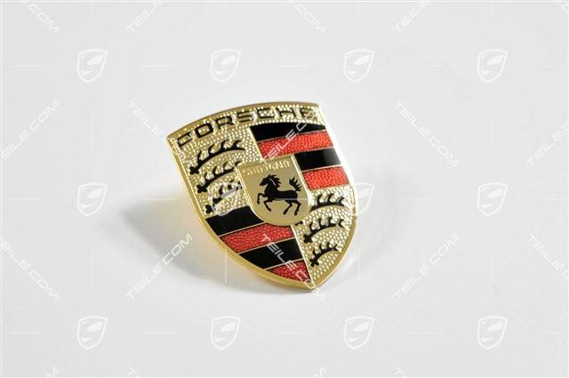 Porsche bonnet badge, crest, with number 993 (1994-1998)