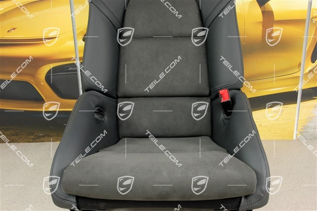 Bucket seat, collapsible, leather/Alcantara Black, right seat, R