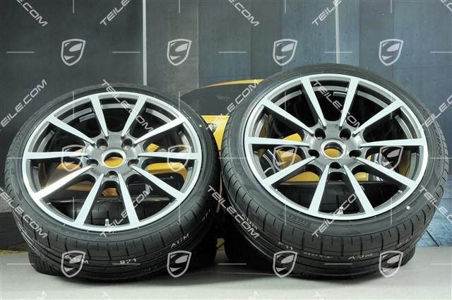 Teile Com 20 Inch Carrera Classic Summer Wheels Set Rims 8j X 20 Et57 10j X 20 Et45 Summer Tires 235 35 Zr20 265 35 Zr20 With Tpms Used