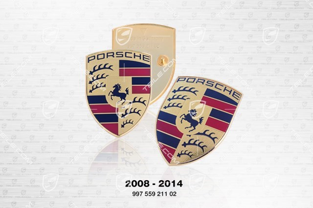 Porsche bonnet badge, crest (2008-2014)